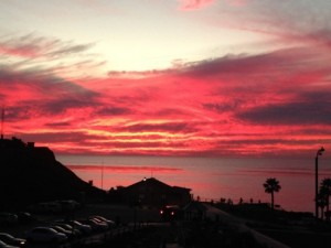 Sunset at Solana Beach by Jeni Champion