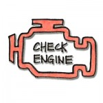 Check Engine, illustration by Megan Skaalen