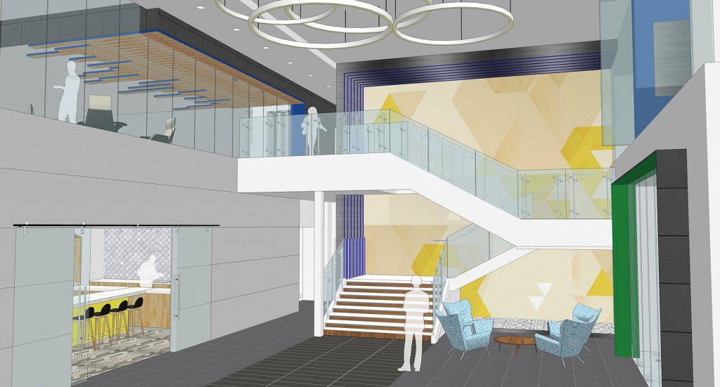 ID Studios design for The Peak on Wateridge Lobby