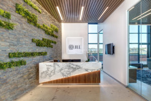 JLL San Diego, Reception Design by ID Studios, Photo by Jared Nelson